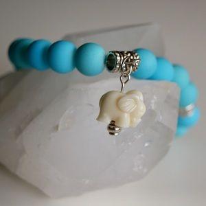 Jewelry - Turquoise Elephant Mala Bracelet